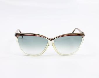 Vintage 70s COURREGES Sunglasses 8363 Big Cat Eye Plastic Frames 1970s Shades Eyewear