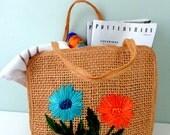 Vintage Purse, Handbags, Beach Bag,Shopping Tote, Summer Purse, Beach Decor