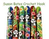 Susan Bates Polymer Clay Covered Crochet Hook, Panda Design