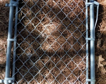 """Vintage Antique Chain-Link Gate for Garden, Yard, Play area or Kennel - 40"""" Tall x 28"""" Wide"""
