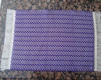 Handwoven Placemats - Purple