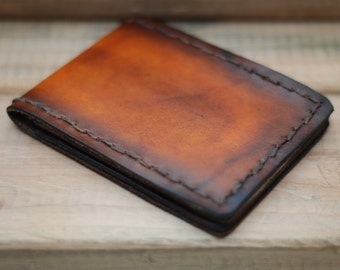 Wallet - The Classic Mens Wallet, Mens leather wallet, slim wallet, brown wallet, vintage wallet, handmade wallet,6 card holders,1 billfold