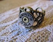 Winchester Silver Tone 38 Special Two Tone Bullet Ring