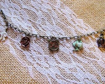 Down The Rabbit Hole Charm Bracelet