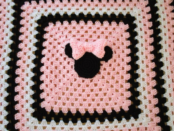 Crochet Pattern For Minnie Mouse Blanket : Easy Crochet Blanket Pattern Mickey Mouse AND by ...