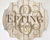 Personalized Family Name Sign Pallet Wood Vine Monogram Word Art Cutout 3D Wood Monogram
