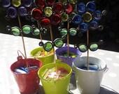 Flowers Outdoor Gardening Glass Ornament Garden Home Decor Gift