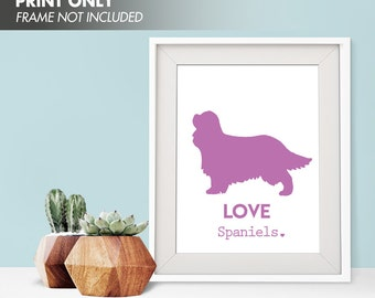 LOVE SPANIELS - Art Print (Featured in Jazz Berry) Love Animals Art Print and Poster Collection