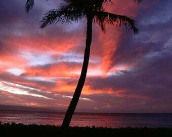 Sunset photography, Maui, Hawaii, nature photography, Maui sunset, wall decor, sunset