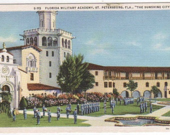 Florida Military Academy St Petersburg FL postcard