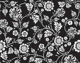 1 Yard of Rose Cliff Manor C3922 Black Riley Blake Designs Fabric