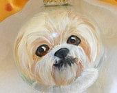 Shih Tzu Hand Painted Ornament ~ Painted Dog Ornament ~ Shih Tzu Ornament ~ Pet Ornament