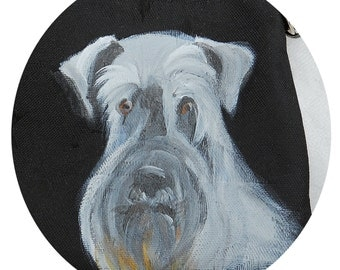 Schnauzer Coin Purse ~ Hand Painted Schnauzer ~ Schnauzer Portrait ~ Gifts for Her ~ Mothers Day Gift