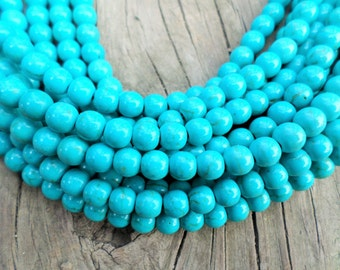 Turquoise Magnesite 6mm Rounds Full Strand
