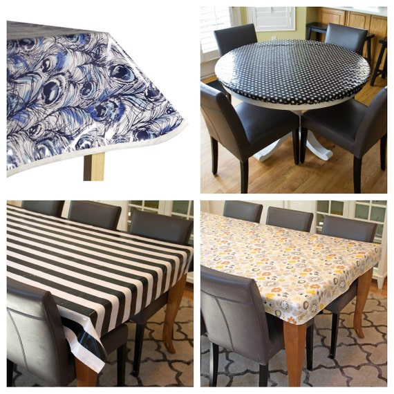 laminated cotton aka oilcloth tablecloth by compelledtocraft. Black Bedroom Furniture Sets. Home Design Ideas