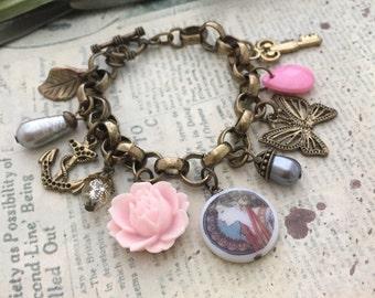 Art Nouveau Bracelet, Mucha Bracelet, Best Friend Gift, Gift Ideas,Theme Bracelet, Friendship Bracelet, Charm Bracelet