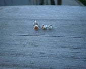Lab Created Padparadscha Sapphire Stud Earrings 4mm