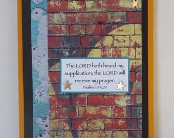 City Chic Journal, Prayer Journal, OOAK Notepad, Psalm Scripture, Handmade Notebook.