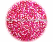 Valentines Day Nonpareils Edible Sprinkles,Red,Pink, White, Cakepops Cupcake CandyConfetti Decorations 4oz.