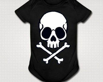 Kawaii Jolly Roger Pirate baby onesie