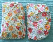 Cutter vintage fitted floral sheet