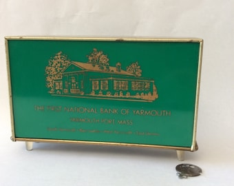 Green Vintage Bank Cape Cod Advertising Yarmouth Port Massachusetts Bank