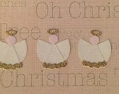 Christmas Die Cuts - Pretty Glittered Angels with Halo!