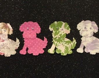 Animal  Diecuts - Patterned Puppy Dogs - Set of 4