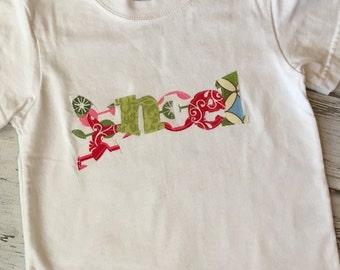 SALE- Girl's Noel Shirt Size 18 Months