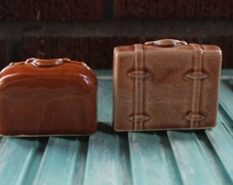 Vintage Luggage Salt & Pepper Shakers