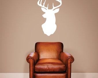Deer Wall Decal, Deer Decal, Deer mount wall decal, Deer vinyl decal, Deer Wall Sticker, Deer Stickers, Deer Wall