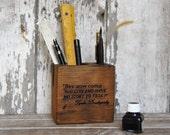 Dostoyevsky Small Desk Caddy by Peg and Awl