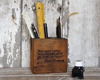 Dostoyevsky Small Desk Caddy by Peg and Awl