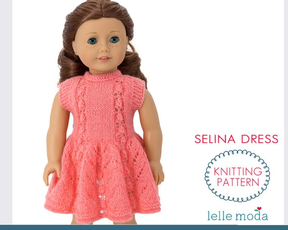 Knitting Patterns For American Doll Clothes : Doll Dress Knitting Pattern Fits American Girl dolls Summer