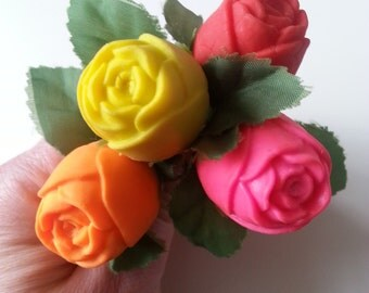 Vintage, 80s, erasers, gommi, rubbers, roses, flowers, scented,choose colour, by NewellJewels on etsy