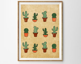 Cactus Print, Southwest Art, Cactus Art, Succulents, Gift for cactus lover, Desert, Large Wall Art, Oversized Art, Trending Items, Trending