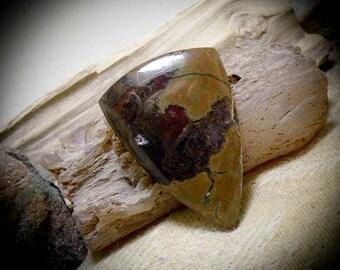 Large Oregon Thunderegg Agate Hand Cut Gemstone Cabochon 44 mm