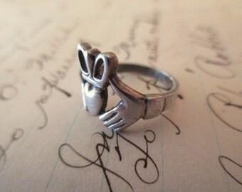sterling Claddagh Ring - Irish, size 5