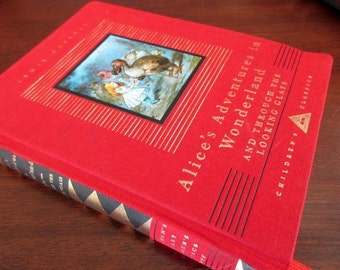 Vintage Book-Alice In Wonderland AND Through the Looking Glass, 1946, 1992