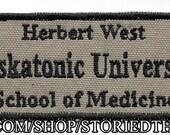 Herbert West, Miskatonic University Patch
