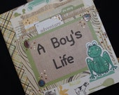 A Boy's Life 8x8 Premade Binder Scrapbook Album journal cards