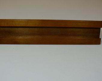 Solid Wood Desk Nameplate Holder