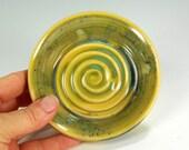 Pottery wine coaster, ceramic saucer wine coaster, stoneware saucer, pottery saucer, ceramic saucer, ceramic wine coaster, green glaze