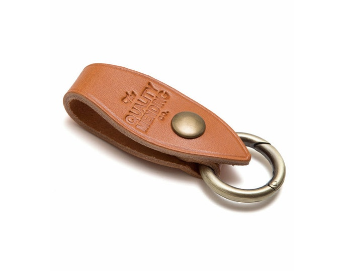 QMC Key Fob Made in USA- Natural Leather