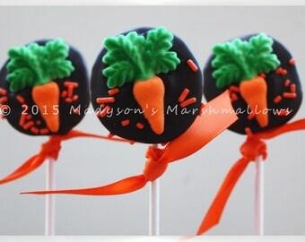 Gourmet Marshmallow Easter Carrot Pops