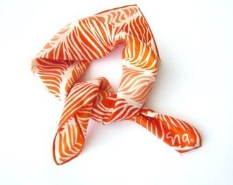 Vintage Scarf, Vera Scarf,  Orange Scarf, vintage abstract scarf, Geometric Scarf, Square Scarf, Headscarf, Neckscarf