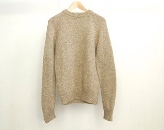 NORDIC wool thick knit oxford crew SWEATER