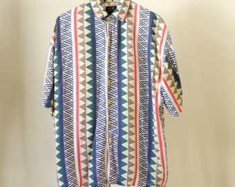 90s BODY GLOVE style surf shirt MEN'S vintage button up down surf shirt skater vibes