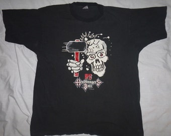 Vintage Headbanger's Ball T-shirt Size XL Heavy Metal bands MTV 1990s Riki Rachtman