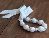 Fabric necklace - Funds are going to cat shelter